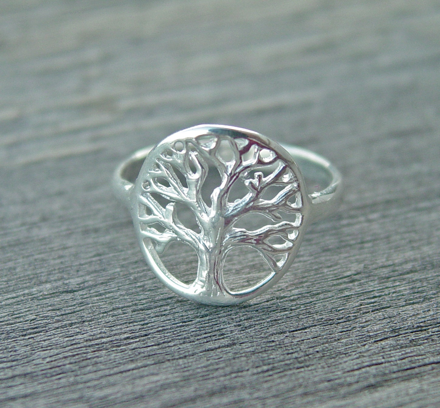 Tree Ring Tree Of Life Ring Personalized Ring Branch Ring