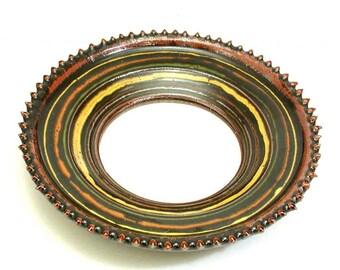Minimalist Hanging Mirror Rustic Round Mirror By Woobielove