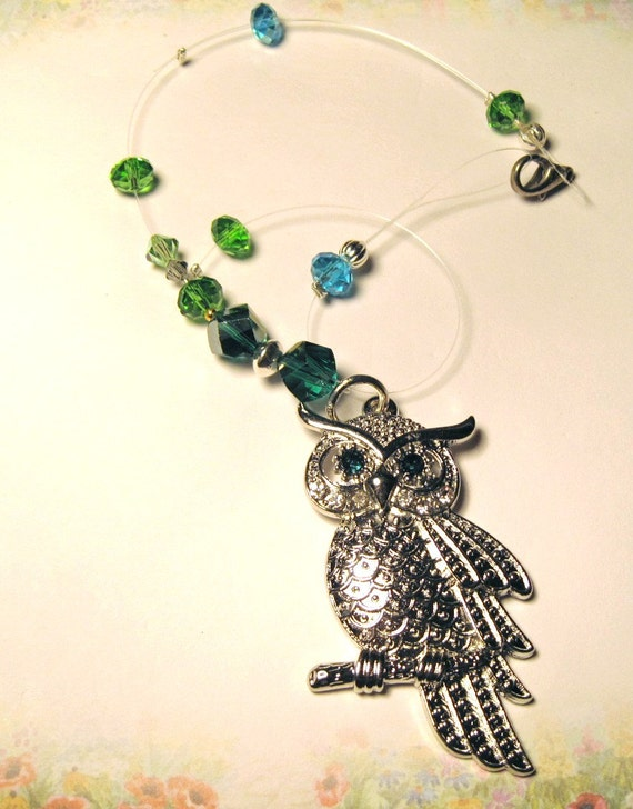 Sale I love Owls, Rear View Mirror Charms