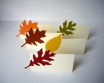 leaf place cards, fall place cards, autumn place cards, thanksgiving place cards, wedding place cards, DIY place cards, 15 cards