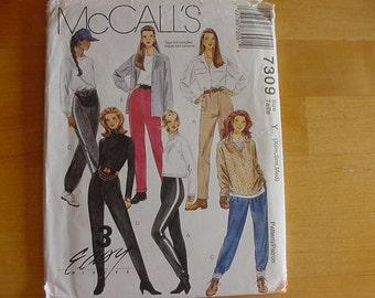 UNCUT 1994 McCalls Pattern 7309 Misses' Pull-On Slim Pants   Size's XS-S-M