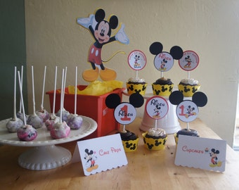 Mickey Mouse Candy/Dessert Table Labels