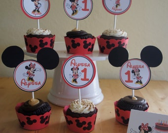 Minnie Mouse (Red)Cupcake Wrappers
