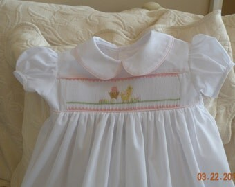 Sweet  Little Chick Newborn Day Gown or Dress