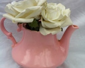 Shabby Pink Teapot With Adorable Vintage Charm