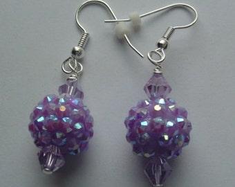 Acrylic Beaded Pierced Earrings