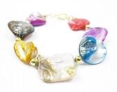 Multicolored Irregular Diamonds Bracelet