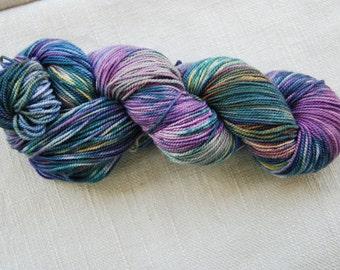 Sockyarn -Merino/cashmere/nylon- handdyed- colour 91