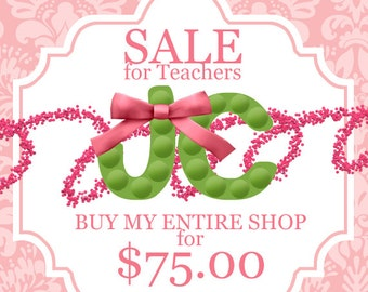 BUY MY SHOP - Sale for Teachers & Freebie  - Digital Scrapbooking - Over 70% Off Regular Price for a Limited Time