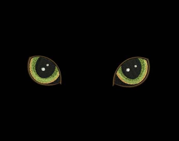 Cat39s Eyes Embroidery Design For TShirt Decor AN007