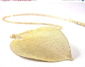 20 % SALE! Gold leaf necklace