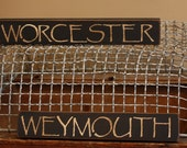 Custom Primitive Town Name Sign