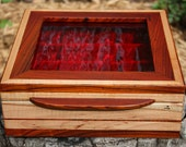 Jewelry box, wood box, Spalted Maple, Cocobolo