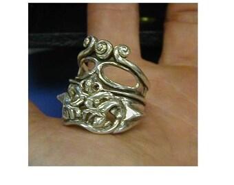 Sterling Silver Chico Tiki ring