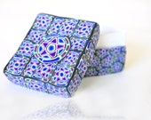 Polymer Clay covered cardboard Box with Geometric Design