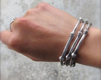 Vine Bangle - Costa Rican Cuff/Open Vine Bracelets - Sterling Silver - Adjustable Size