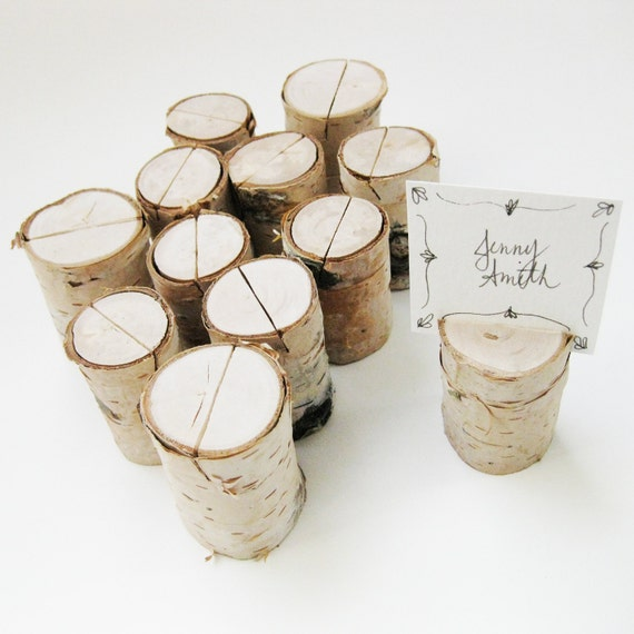 White Birch Branch Place Card Holders Hostess Gift Table