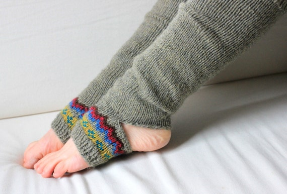 Knitting Pattern For Yoga Socks : Knitting Pattern Horizon Yoga Sock by CedarBoxKnits on Etsy