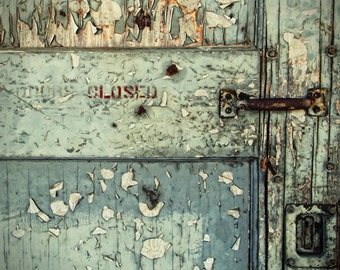 Door Photography   Dee Oregon   Abandoned   Industrial Chic   Rust   Peeling Paint   Closed   Photo Print