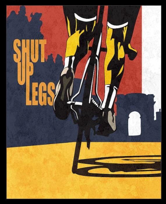 Retro styled stencil cycling Tour de France illustration / print / poster / canvas 11X14