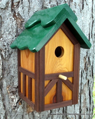 Outdoor Wood Painted Bird House Nesting Box By Myretirementgig
