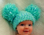 Easter Hats Pom Pom Hat Baby Girl Hat Crochet Baby Girl Hats Newborn Photography Props Hats Photo prop Baby Girl Hats