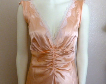 Vintage Fredericks of Hollywood Silky Peach Nightgown