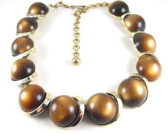 Vintage Necklace Lisner Thermoset Coco Moonglow Designer Signed Vintage Jewelry