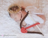Handmade Newborn Cupid Angel Picture Set Photography Prop FREE SHIPPING