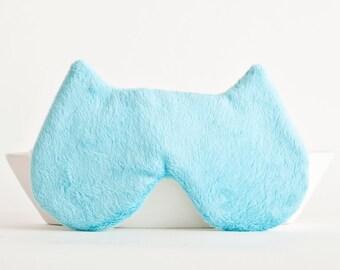 Cat Sleep Mask, Cat Mask, Blue, Slumber Party