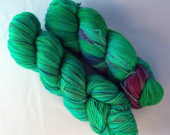 SALE Jelly Bean on Lace 100% SW Merino Hand dyed lace weight yarn