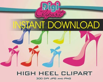 High Heel Shoe Clip Art - INSTANT DOWNLOAD