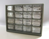 Vintage Organizer -- 20 Drawer, Storage, Industrial, Gray