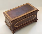 Jewelry Box -- Budd Leather, Made in Italy, Circa 1950s-1960s SALE