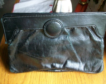 Black Faux Leather Purse   from 1985  10x7