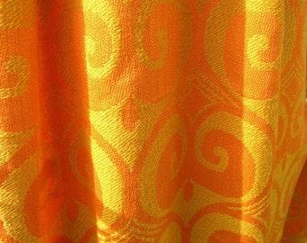 Retro 1970s Woven Curtain Vintage 1960s Curtain Vintage