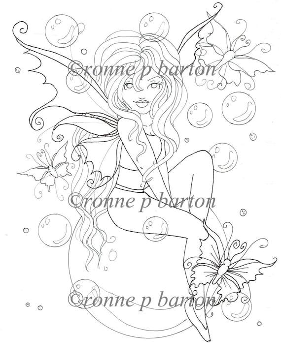 dark fantasy coloring pages - photo#12