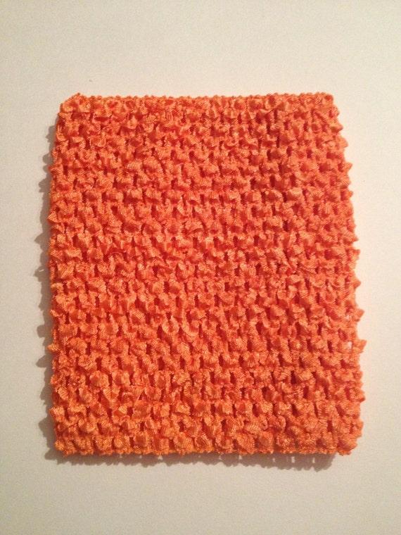 """Orange 6"""" Crochet Tube Top for Tutu Dresses"""