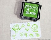 Fresh green ink Pad for rubber stmap
