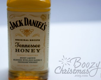 Tennessee Honey Ornament-- Tennessee Honey Whiskey Themed Christmas Tree Ornament.
