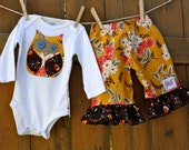 Infant Harvest Owl Onesie and Pant