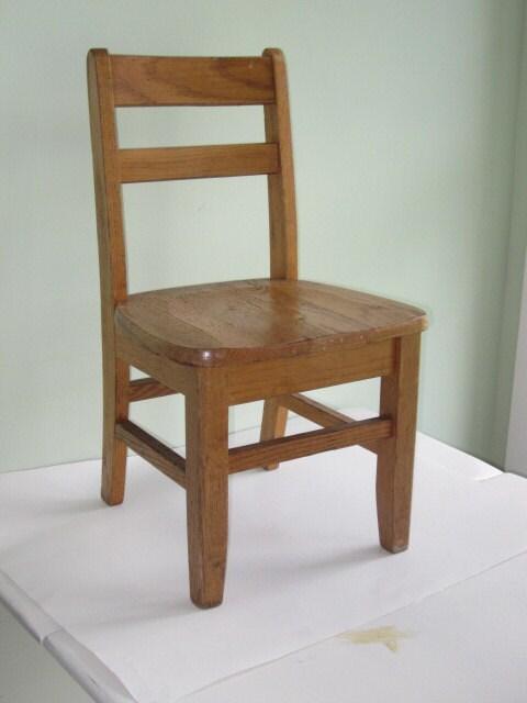 Antique Oak Child S Size School Desk Chair