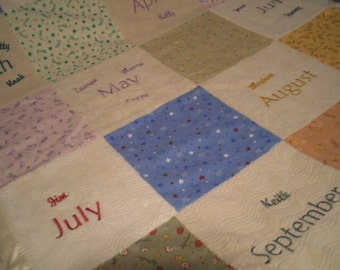 Personalized Grandmothers Quilt