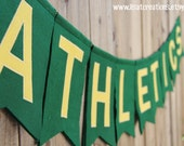 Oakland Athletics Baseball Felt Banner // Sports Teams // College Dorm Room