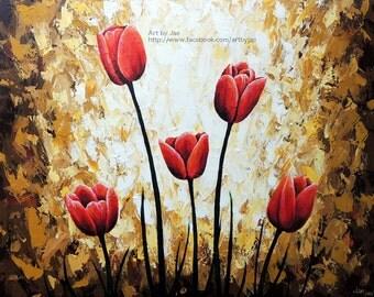 Tulips Print Small Wall Art Home Decor