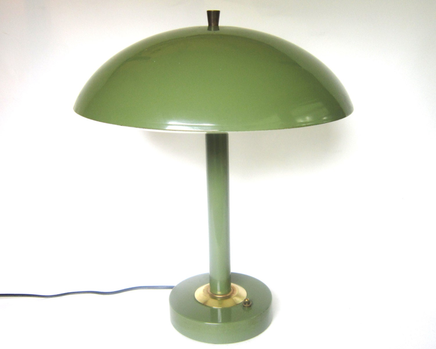 Atomic Age Mushroom Lamp Mid Century Flying Saucer Avocado