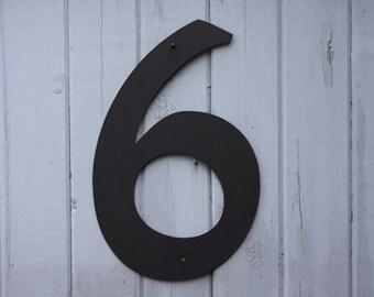 11 Metal House Numbers Modern Powder Coated Black Or