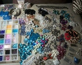 11 pounds of bead destash and tools and accessories