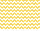 Small Chevron Yellow  by Riley Blake Designs Half Yard Cut