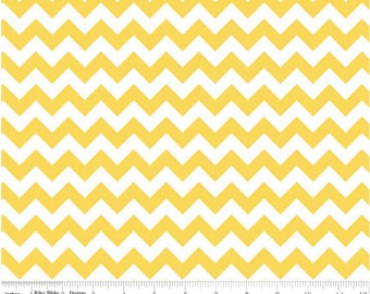 Small Chevron Yellow  by Riley Blake Designs 1 yard cut